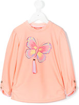 Sunuva tropical butterfly print sweatshirt