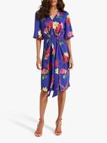 Phase Eight Darcy Kimono Dress, Cobalt/Multi