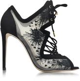 Nicholas Kirkwood Phoenix Black Embroidered Sandal