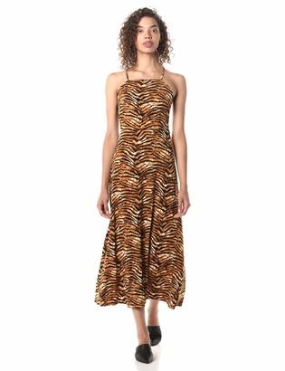 J.o.a. Women's Sleeveless Stretch Knit Maxi Dress with Lace up Back