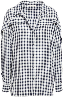 Maje Gingham Seersucker Shirt