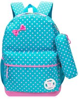 Greeniris Cute Kids Backpack Baby Children Girl School Bag with Pencil Case 2 Piece Set