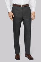 Moss Esq. Regular Fit Charcoal Sharkskin Pants