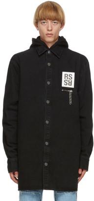 Raf Simons Black Denim Zip Pocket Big Fit Shirt