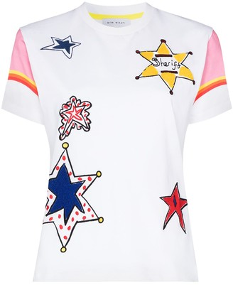Mira Mikati star embroidered T-shirt