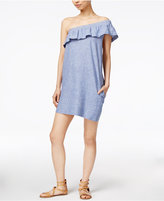 Velvet Heart Mara Cotton Striped One-Shoulder Dress