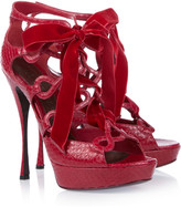Alexander McQueen Lace-up snake sandals