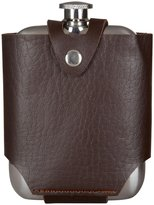True Fabrications Admiral Flask & Traveling Case - brown