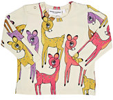 Mini Rodini Deer-Print T-Shirt-PINK