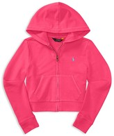 Ralph Lauren Girls' Signature Terry Hoodie - Sizes S-XL