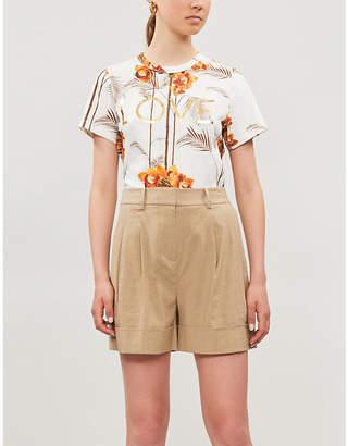Ted Baker Tropical-print cotton-jersey T-shirt