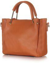 Yumi Shopper Bag with Metallic Handle