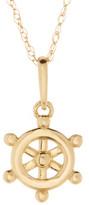 Candela 10K Yellow Gold Helm Pendant Necklace