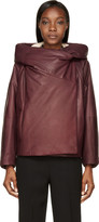 Chloé Plum Insulated Hooded Calfskin Jacket
