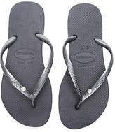 Havaianas Slim Crystal Glamour SW Sandal in Charcoal. - size US 5/6/ BRZ 35-36 (also in US 7/8/ BRZ 37-38,US 9/10/ BRZ 39-40)