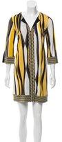 Diane von Furstenberg Rose Silk Dress