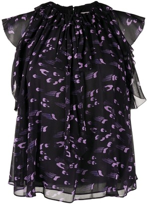 Temperley London Ethel ruffled blouse