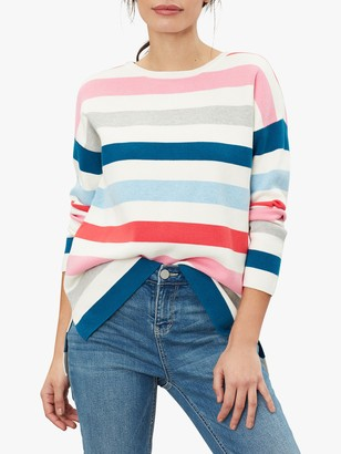 Joules Uma Milano Stripe Cotton Jumper, Multi Stripe