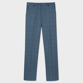 Paul Smith A Suit To Travel In - Slim-Fit Slate Blue Windowpane Check Trousers