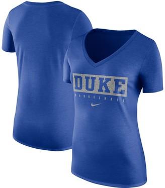 Nike Women's Royal Duke Blue Devils Basketball V-Neck Practice T-Shirt