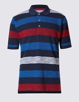 Blue Harbour Pure Cotton Striped Polo Shirt
