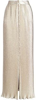 Paco Rabanne Metallic Knit Maxi Skirt