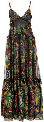 Missoni Patterned-Knit Tiered Maxi-Dress