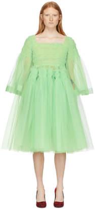 Molly Goddard Green Pearl Dress