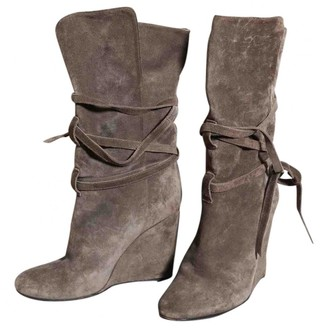 Burberry Grey Suede Boots