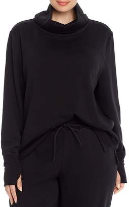 Andrew Marc Plus Terry Fleece Funnel Neck Tunic