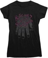 Hart Apparel Bitches Get Stitches Roller Derby T-shirt Ladies/Juniors XL