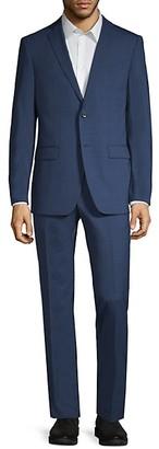 John Varvatos Standard-Fit Plaid Suit