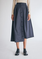 Engineered Garments Women's Tuck Skirt in Dark Navy High Count Twill, Size 0 | 100% Cotton