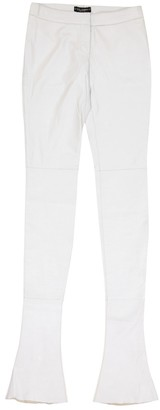 Dolce & Gabbana \N White Leather Trousers