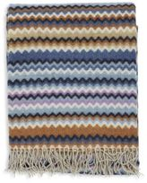 Missoni Home Fringed Chevron Plaid Throw