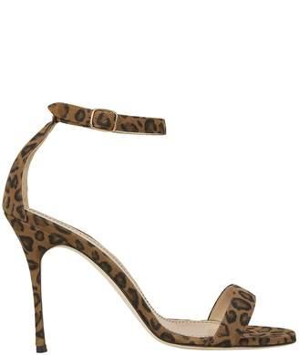Manolo Blahnik Chaos Leather Heeled Sandals