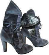 Reed Krakoff Khaki Velvet Ankle boots