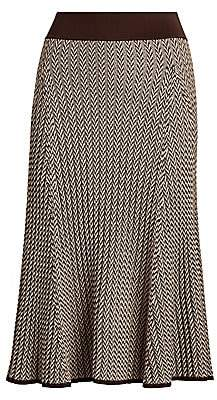 Polo Ralph Lauren Women's Herringbone Ribbed Wool Skirt
