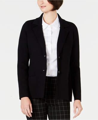 Charter Club Petite Cotton Sweater Blazer