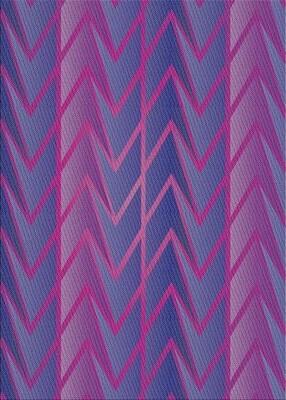 East Urban Home Patterned Violet Area Rug Rug Size: Rectangle 3' x 5'