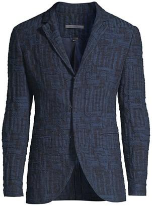 John Varvatos Notch Textural Jacket