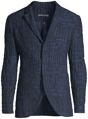 John Varvatos Notch Textural Jacket