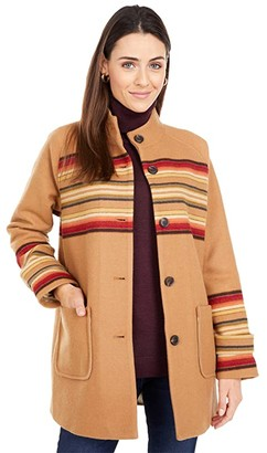 Pendleton Stripe Coat (Sunset Stripe Jacquard) Women's Coat