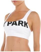 Ivy Park Logo V Back Mesh Insert Bra
