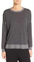 Eileen Fisher Women's Stripe Ultrafine Merino Wool Sweater