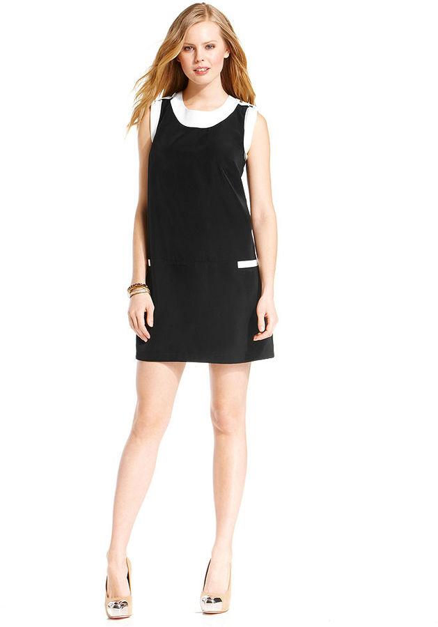 Amy Byer BCX Juniors Dress, Sleeveless Colorblock Shift