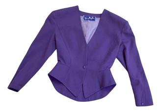 Thierry Mugler Purple Wool Jackets