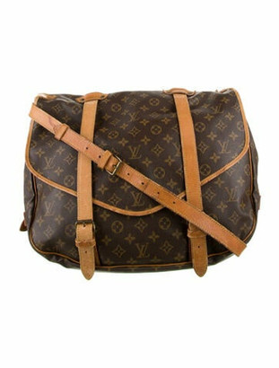 Louis Vuitton Vintage Monogram Saumur 40 Brown