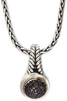 Black Diamond Effy 18k Yellow Gold and Silver Pendant
