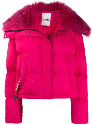 Yves Salomon Fur-Rimmed Puffer Jacket